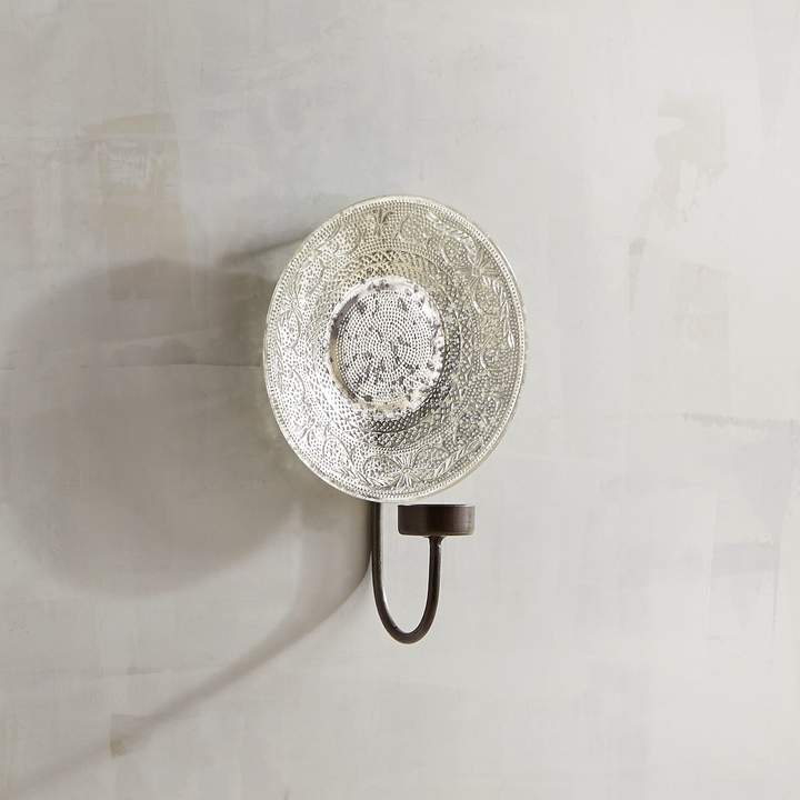 Small Glass Plate Tealight Candle Holder Wall Sconce