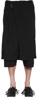 Yohji Yamamoto Tech Elastic Layered Canvas Shorts