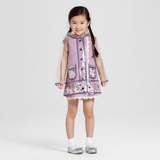 Victoria Beckham for Target Toddler Girls' Clear Flower Appliqué Raincoat $35 thestylecure.com