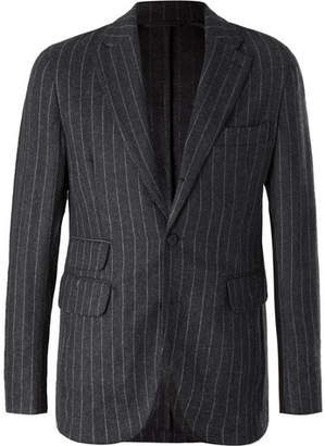 MAN 1924 Grey Pinstriped Wool And Cashmere-Blend Suit Jacket
