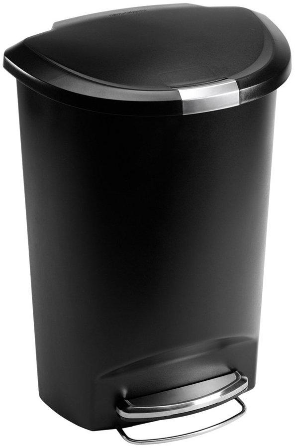 Simplehuman Trash Can, 50L Plastic Step Can