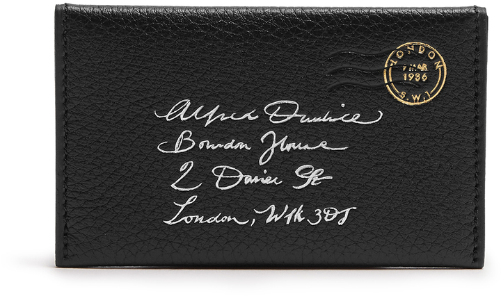 Alfred DunhillDUNHILL Boston leather envelope cardholder