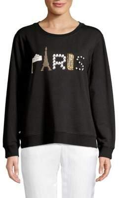 Karl Lagerfeld Paris Embellished Paris Sweatshirt