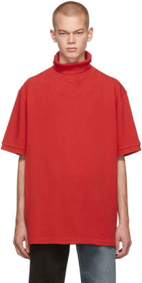 Vetements Red Polo Turtleneck
