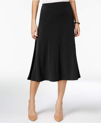 Jm Collection Diagonal-Seam Midi Skirt, Created for Macy's $49.50 thestylecure.com
