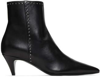 Saint Laurent Black Stud Charlotte Boots