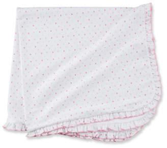 Kissy Kissy Princess Castle Ruffle-Trim Printed Pima Baby Blanket