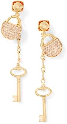 Ralph Lauren Padlock Crystal Earrings