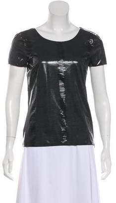 Armani Collezioni Scoop Neck Short Sleeve Top