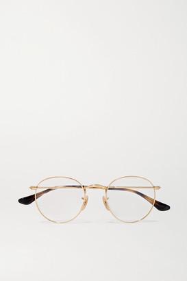 Ray-Ban Round-frame Gold-tone Optical Glasses