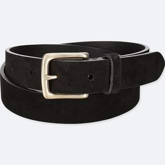 Uniqlo Men's Italian Leather Suede Belt