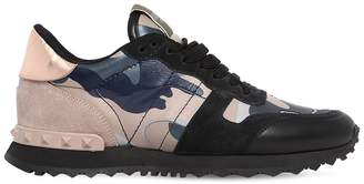 Valentino Rockrunner Leather & Suede Sneakers