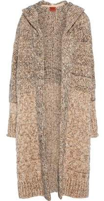 Missoni Marled Crochet-Knit Hooded Cardigan
