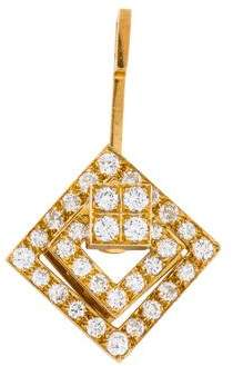 18K Diamond Square Pendant