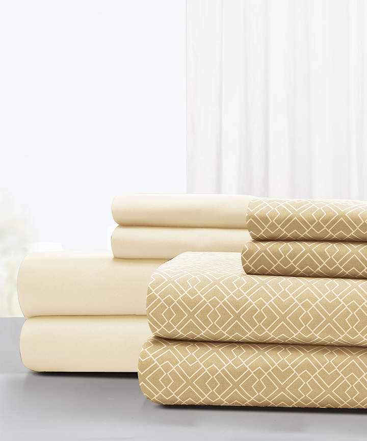 Light Sand Labyrinth Eight-Piece Sheet Set
