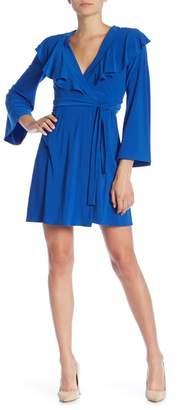 Taylor Ruffle Front Bell Sleeve Jersey Dress