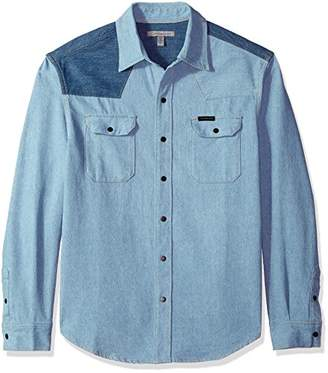 Calvin Klein Jeans Men's Western Denim Shirt Two-Tone