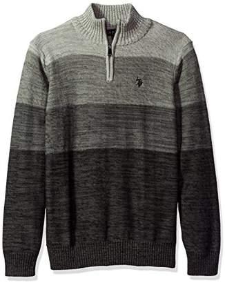 U.S. Polo Assn. Men's Reverse Jersey Mechanical Marl Sweater