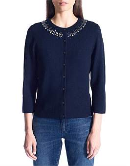David Lawrence Jewelled Cardigan