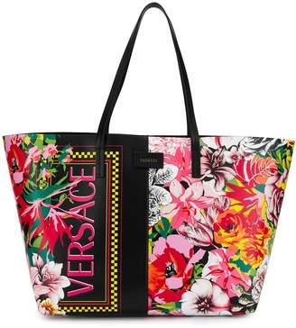 Versace floral print shopper