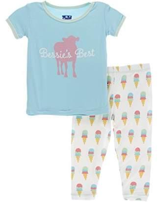 Kickee Pants Women's Print Short Sleeve Pajama Set Prd-kppj108-Gdest