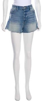 Frame High-Rise Mini Shorts