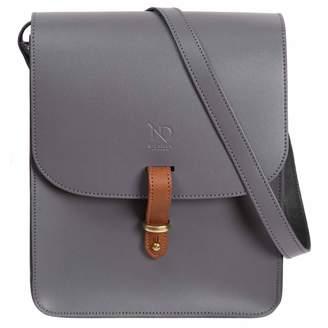 N'Damus London - Elizabeth Grey Leather Crossbody Satchel Bag