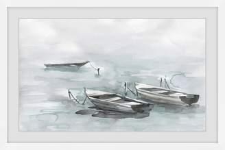 Parvez Taj Wooden Boats Framed Printed Wall Art