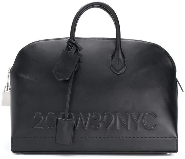 Calvin Klein 205W39nyc logo embossed tote bag
