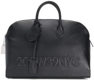 Calvin Klein logo embossed tote bag