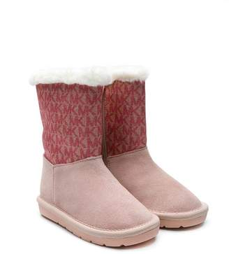 Michael Kors Kids logo pattern snow boots