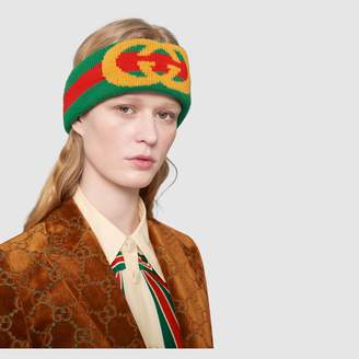 Gucci Web wool headband with InterlockingG
