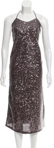 Marc JacobsMarc Jacobs Sequined Halter Dress