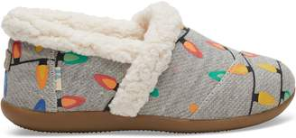 Light Grey Glow In The Dark Tree Lights Youth House Slippers
