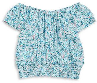 Splendid Girls 7-16 Floral Short Sleeved Top $40 thestylecure.com