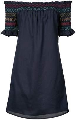 Trina Turk strapless smocked top dress