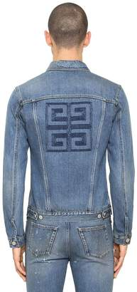Givenchy 4g Logo Embroidered Vintage Denim Jacket