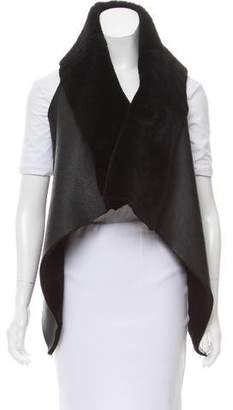 Elizabeth and James Leather Faux-Shearling Vest