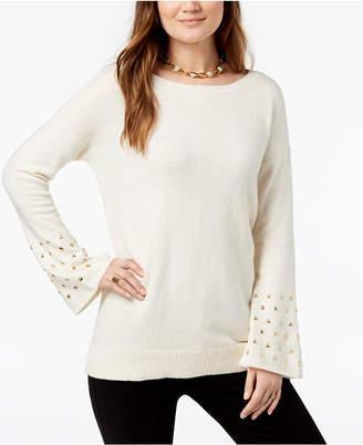 Michael Kors Studded-Cuff Sweater