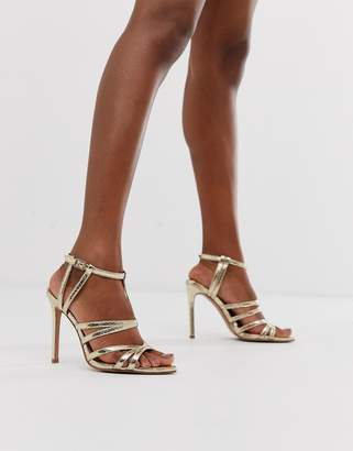 241424c78ef Gold High Heel Sandals - ShopStyle UK