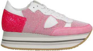 Philippe Model Logo Patch Platform Sneakers