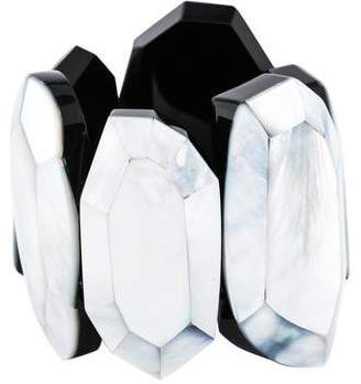 Viktoria Hayman Mother of Pearl Faceted Stretch Bracelet