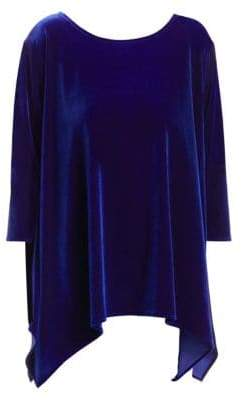 Caroline Rose Plus Blue Becomes You Velvet Swing Tunic