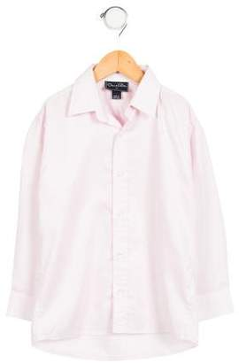 Oscar de la Renta Boys' Long Sleeve Button-Up Shirt