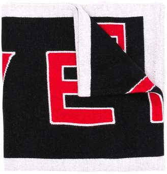 Givenchy knitted logo scarf
