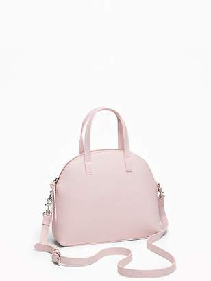 e64741a935 Old Navy Faux-Leather Dome-Shaped Satchel for Women