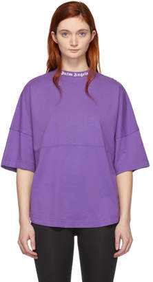 Palm Angels Purple Logo Oversized T-Shirt