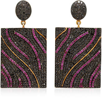 Black Diamond Sanjay Kasliwal Drop Earrings