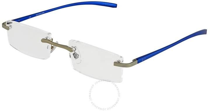 B+D Al Reader Matt Silver / Blue Eyeglasses