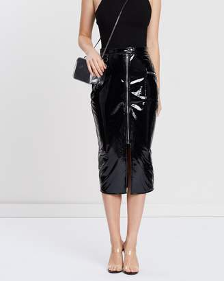 Missguided Vinyl Utility Midi Skirt